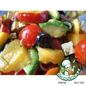 Рецепт: Томатный   салат   с   авокадо