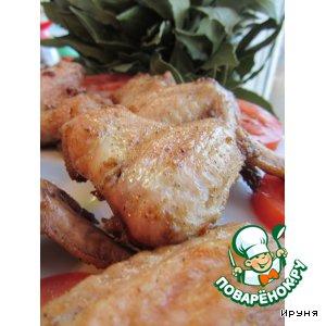 Рецепт: Маринованные куриные крылышки
