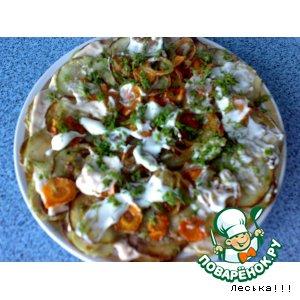 Рецепт: Закуска из кабачков ароматная