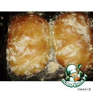 Рецепт: Чиабатта - итальянский хлебушек
