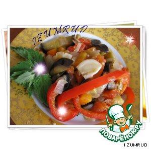 Рецепт: Баклажаны с овощами