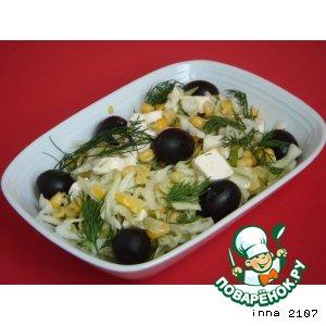 Рецепт: Салат из капусты с сыром Фетакса