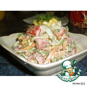 Рецепт: Закуска из овощей с гречневым соусом