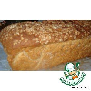 Рецепт: Хлеб с овсяными хлопьями