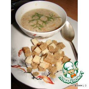 Рецепт: Сливочный суп-пюре из грибов и цветной капусты