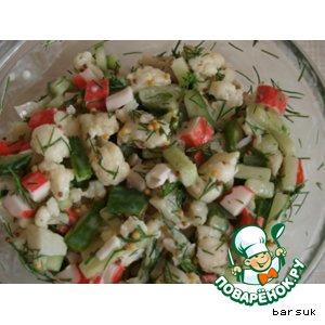 Рецепт: Салатик с французской горчицей