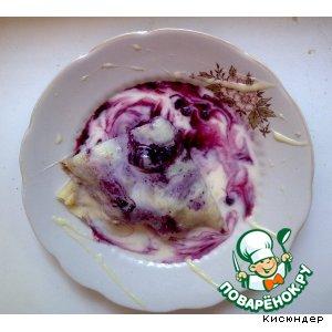 Рецепт: Блинный десерт Летнее настроение