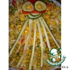 """Рецепт: Закуска-салат """"Осьминог"""""""