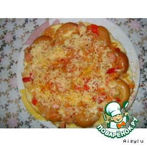 Рецепт: Открытый пирог а-ля пицца на сушках