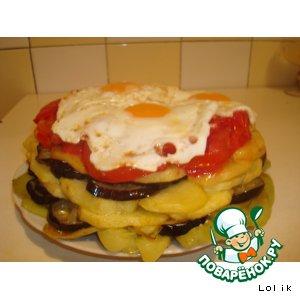 Рецепт: Овощной торт Овощной светофор