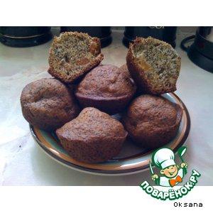 Рецепт: Кексы с маком и кедровыми орешками