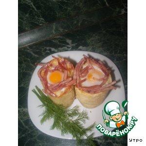 Рецепт: Завтрак в багетах
