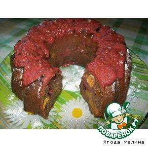 Рецепт: Шоколадный кекс со сливами и нектаринами