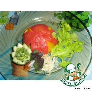 "Рецепт: Овощная пирамида ""Краски лета"""