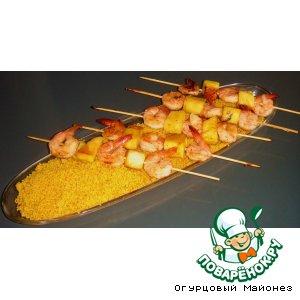 """Рецепт: Креветки с ананасом """"Хэмингуэй"""""""