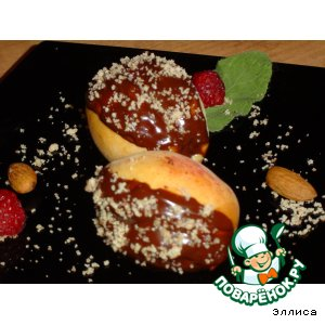Рецепт: Абрикосы с начинкой в шоколаде