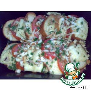 Рецепт: Хлебная запеканка с помидорами