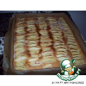 Рецепт Пирог яблочный быстрый