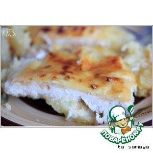 Рецепт: Картофельная запеканка с курицей и абрикосами