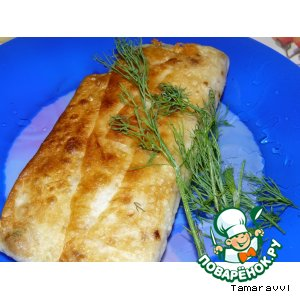 Appetizer of pita bread