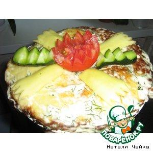 Рецепт: Закусочный торт Наташка
