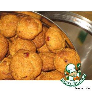 Рецепт: Печенье кунжутно-кукурузное