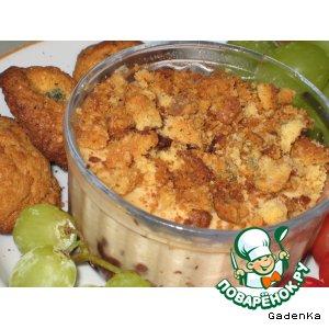Рецепт: Запеченный крем из ряженки с земляникой