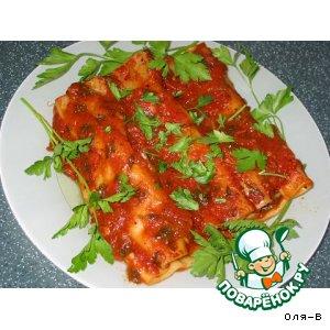 Рецепт: Каннеллони под томатным соусом