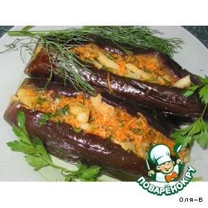 Рецепт Фаршированные баклажаны под маринадом