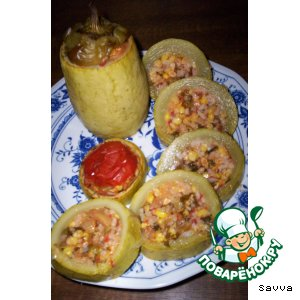 Рецепт: Порционная овощная закуска из кабачка