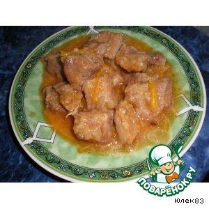 Рецепт: Говядина в кисло-сладком соусе