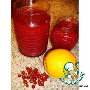 Рецепт: Желе из красной смородины с апельсинами