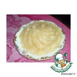 Рецепт: Ароматное яблочное пюре за 10 минут
