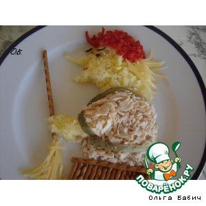 Рецепт: Салат Баба-Яга