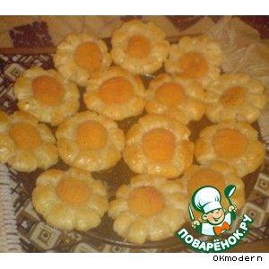 """Рецепт """"Ромашка"""" или ананас в слоеном тесте"""