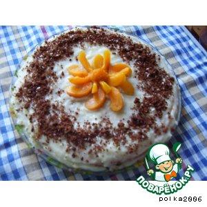 Рецепт: Быстрый торт из заварного крема