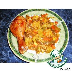 Рецепт: Куриные ножки по-мексикански с овощами