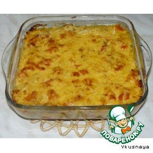 Рецепт: Слоеный пирог из баклажанов