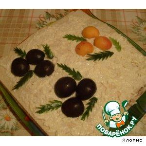 Рецепт: Закусочный рыбный торт