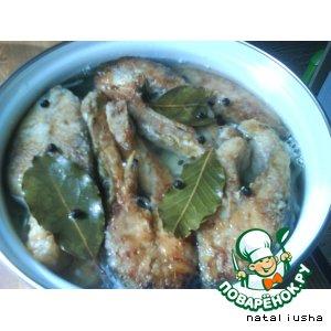 Рецепт: Рыба маринованная по гречески