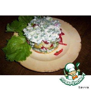 Рецепт: Овощи с яично-сырным соусом