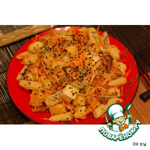 Рецепт: Салат из тофу и дайкона по-японски