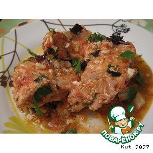 Рецепт: Чахохбили из курицы с помидорами