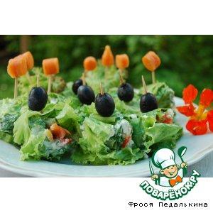 Рецепт: Овощные роллы с сыром