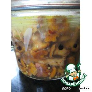 Рецепт: Маринованные лисички