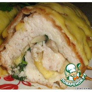 Рецепт: Куриные рулеты с грибами