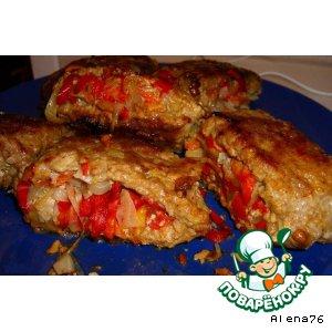 Рецепт Кармашки из рубленного мяса с пикантной начинкой