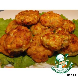 Рецепт: Фрикадельки из баклажанов и кабачков
