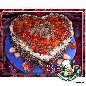 Рецепт: Шоколадный торт с клубникой