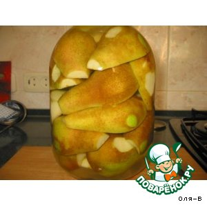 Рецепт: Консервированные груши с ванильным сахаром
